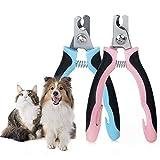 Inalámbrico Cortauñas for Perro Gato con Mascota Protector de Seguridad Acero Inoxidable Alicates Uñas for Mascotas Perros Gatos Conejas Veterinaria Utilizar Eléctrico ( Color : Pink , Size : M )