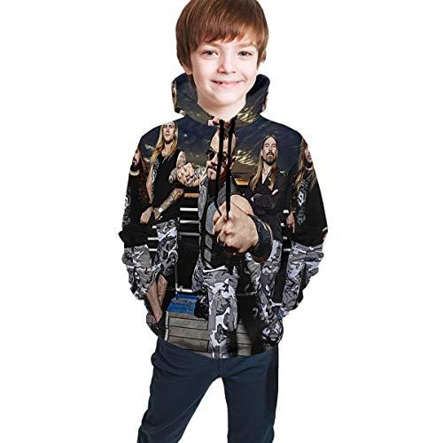 Sabaton Sweatshirts for Girls Boys Soft Teens Hoodies Plus Velvet Hoody Hooded Sweate Tops with Pockets XL(18-20)