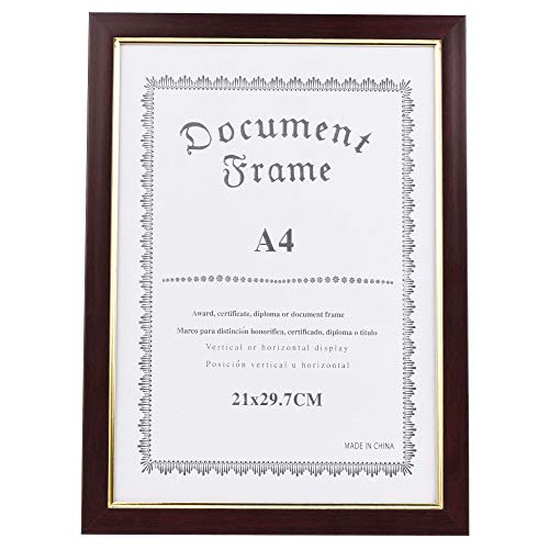 CM Photo Frame Document Holder Diploma Graduation Certificate Frame for A4 Paper Size Certificate Paper