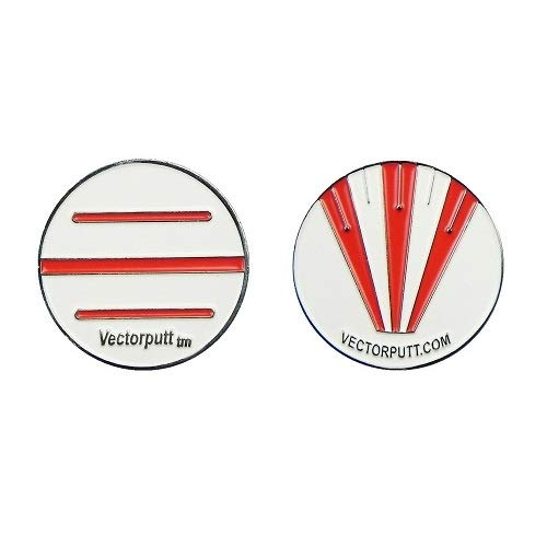 Vectorputt tm - USGA Approved Golf Ball Mark - Double Sided Golf Ball Marker with hat Clip (30mm)