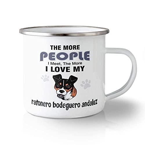 N\A Taza de Viaje irrompible 11 onzas Más Personas conocen Ratonero Bodeguero Andaluz Taza de té de Aluminio con diseño Exclusivo