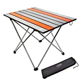 YTR OUTDOOR - Mesa de camping plegable de aluminio para camping, picnic, barbacoa, senderismo, viaje