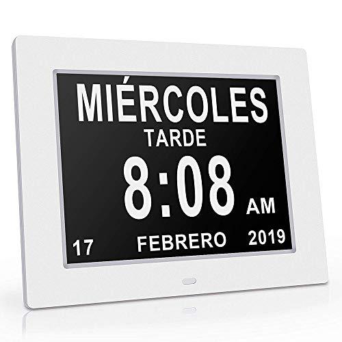 MOCNP Alzheimer Uhr Kalender mit Datum, Tag und Stunde | Uhr | Uhr Dritte Alter