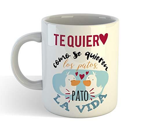 Muy Chulo Taza Te Quiero como se Quieren los Patos (Blanca)