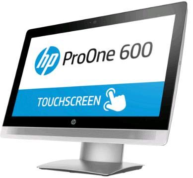 """Ordenador de sobremesa All in One HP Pro One 600 G2 AIO I5-6500 RAM 8 GB SSD 256 Windows 10 Pro 21,5"""" touch + Kit inalámbrico HP, grado A, Wi-Fi AC (reacondicionado)"""