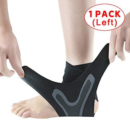 Tobillera para fitness, tobillera, tobillera, brazalete para piernas, brazalete deportivo contra esguinces, pies a la izquierda y a la derecha para hombres, mujeres y tobilleras