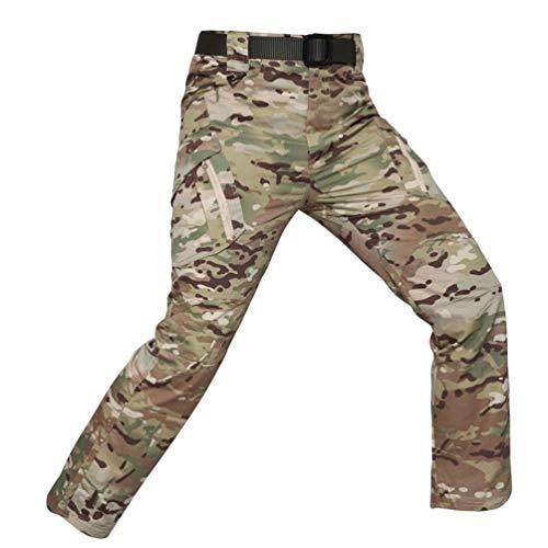 YuanDian Herren Taktisch Camouflage Hose Multi-Taschen Outdoor Wanderhose Army Combat Hose Trekking Jagd Camping Wandern Militär Camo Cargohose Tarnhosen CP 2XL