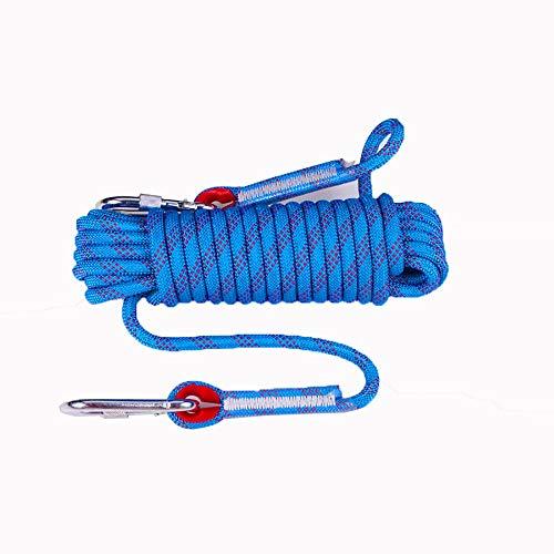 Keliour Corde di Arrampicata Corda di Sicurezza rampicante Esterno Corda Corda statica Corda di Fuga di Soccorso Corda 10MM 20MM (Blu) per la Pesca Escursionistica (Color : Blue, Size : 10mm x 20m)