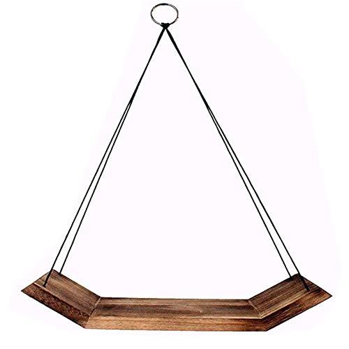 Hängande Flytande hyllor med String Rope vägg Flytande hyllor för Levande Rum Badrum Sovrum Kontor Kök