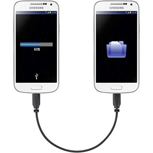 Renkforce USB-Kabel USB 2.0 USB-Micro-B Stecker, USB-Micro-B Stecker 15.00 cm Schwarz mit OTG-Funktion, Supersoft-Umman