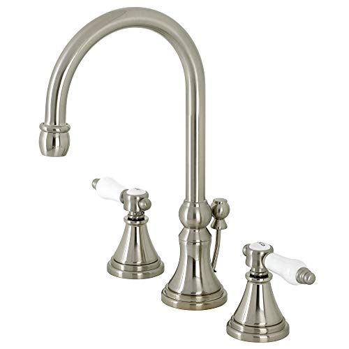 Kingston Brass KS2988BPL Bel-Air Widespread Bathroom Faucet with Brass Pop-Up, Brushed Nickel