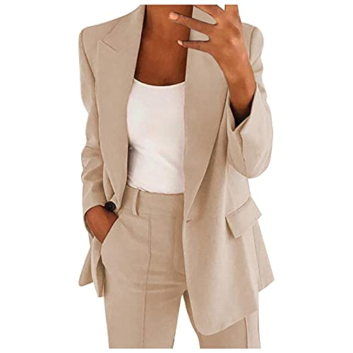 ours blazers for women Blazer for Womens Casual Long Sleeve Work Office Solid Open Front Blazer Jacket
