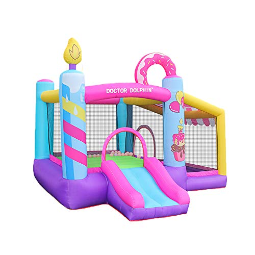 doctor dolphin Outdoor Indoor Bounce House, Inflatable Bouncy House for Kids with Blower,Jumping House Castle with Slide, Ball Pit
