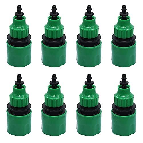 AODOOR 8 unidades de manguera de jardín de plástico, conector de manguera de jardín 4/7 y 8/12 riego, conector de grifo, aspersor para manguera de jardín