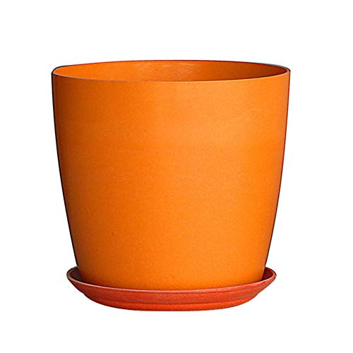 Flower Pot Plant Pot Nordic Style Flowerpot Plant Container Planting Tool Home Garden Decoration Bonsai Container with Drainage Orange 1614.5cm