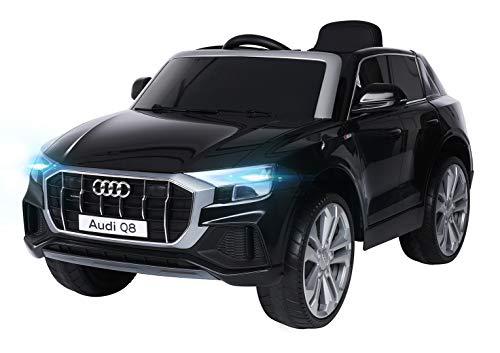 Actionbikes Motors Kinder Elektroauto Audi Q8 4M - Lizenziert - 2 x 45 Watt Motor - 2,4 Ghz Fernbedienung - Elektro Auto für Kinder ab 3 Jahre (Neu Audi SQ8 Schwarz)
