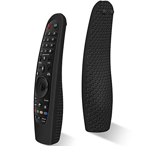 Silicone Protective Case for LG AN-MR600 / LG AN-MR650 / LG AN-MR18BA / AN-MR19BA / AN-MR20GA Remote Control [Anti-Lost] Anti Slip LG Magic Remote Case Cover Skin Holder Sleeve Protector (Black)