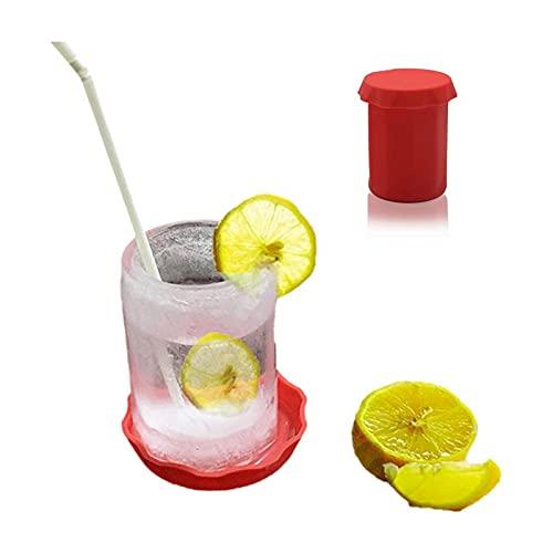 Taza de cerveza de verano con forma de cubo de hielo congelado de silicona congelada, bandeja para hacer tazas, fiestas, cócteles, colas, adecuado para bar y playa