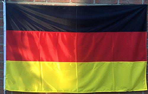 Netflags Drapeau Allemagne, tempête Drapeau avec poids en 110 g/m², 200 x 80 cm