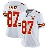 Jersey de Rugby, Jersey pour Hommes Sleey Short Sleeve Tops T-Shirt Sports Occasionnels pour Hommes Vêtements de Football pour Chefs 87# Kelce White-XXL