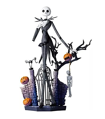 The Nightmare Before Christmas: Jack Skellington Action Figure,movable face change figure,Desktop Collection Birthday Gifts 20cm