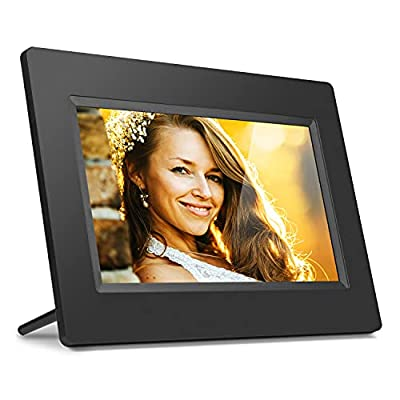 """Aluratek 7"""" WiFi Digital Photo Frame with Touchscreen IPS Display, 8GB Built-in Memory"""