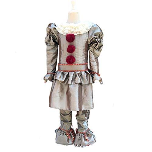 AHJSN Bambini 2019 Cosplay Costume Abito Clown per Bambini Halloween Carnevale Party S (in VI Bambini