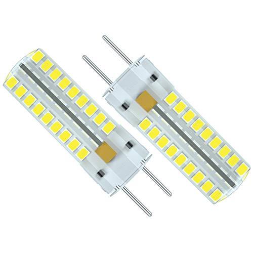ZIBEI Bombilla LED G6.35 GY6.35 bi-pin de 5 W, CA/CC, 12 V, ángulo de haz de 360°, blanco frío, 3000 K, sustituye a bombilla halógena de 50 W, no regulable (pack de 2)