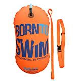 BornToSwim - Boa da Traino Unisex per Adulti, per nuotatori, Unisex Adulto, BUO-TO-U-E-O-LL, Orange, 28 x 49 cm