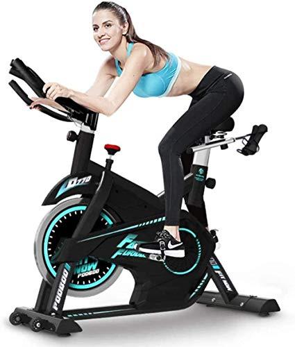 Bicicleta estática silenciosa para interior con soporte para iPad, asiento de rodillo móvil y manillar ajustable