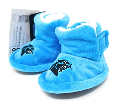 NFL Infant Baby High Boot Slipper Bootie (Carolina Panthers, X-Large (12-24M))