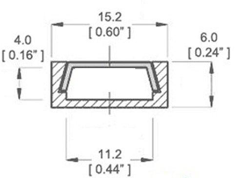 Preisvergleich Produktbild LED Aluminium Profil Schiene flach -1m