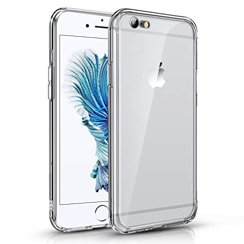 Für iPhone 6 Hülle iPhone 6s Handyhülle Transparent Case Kompatibel mit iPhone 6/6s, Ultra Dünn Crytal Clear Transparent TPU Handyhülle Anti-gelb Stoßfest Kratzfest Hülle für iPhone 6/6s, Kristalklar