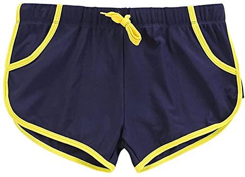 Traje de baño de moda Hombres nadar pantalones cortos troncos para hombres troncos de natación para hombres esquina plana ajustado de secado rápido pantalones de secado rápido cómodos pantalones de pl