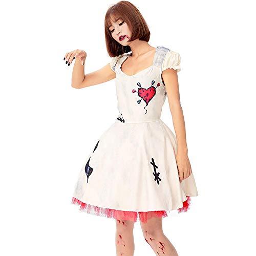 DEXIAOBANG Costume di Halloween Horror Voodoo Doll Psychic Maledizione Bambola Cosplay Sanguinosa Performance Costume Palco Abbigliamento-m