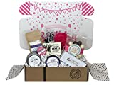 Spa Bath Bomb Birthday Gift Basket Box for Her-Women, Mom, Aunt, Sister or Friend - Unique