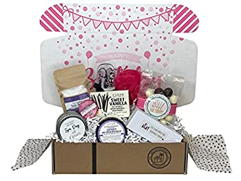 Spa Bath Bomb Birthday Gift Basket Box for Her-Women Mom Aunt Sister or Friend - Unique