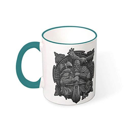 Twelve constellations Tazas de café de cerámica lisa retro diferentes – Vaso de leche apto para lounge para regalo de cumpleaños 330 ml