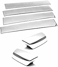 TX Racing Shipping from USA Stainless Polished Pillar Post + Mirror Covers for 2014-2018 Chevrolet Silverado/GMC Sierra 1500/2500/3500 Crew Cab ONLY