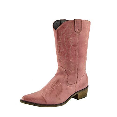 Kick Footwear ,  Damen Cowboy Stiefel, Pink - Rose - Größe: 42 2/3