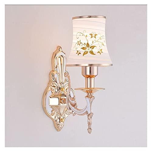 ACXLONG Lámparas de Pared Sala de Estar Interior Lámpara de Pared Europea Mesita de Noche Sala de Estar TV Fondo Lámpara de Pared Escalera Pasillo Lámpara de Cristal Decoración de Dormitorio Luces de