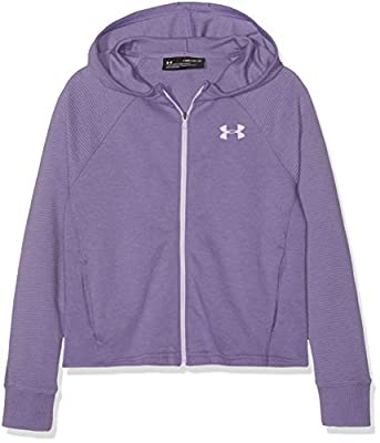 Under Armour Girls' Finale Full Zip, Purple Luxe (520)/Mojo Pink, Youth Large