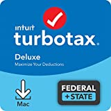 TurboTax Deluxe 2021 Tax Software, Federal and State Tax Return with Federal E-file [Amazon Exclusive] [MAC Download]