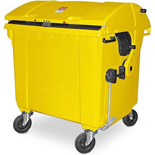 BRB 1100 Liter Großmüllbehälter/Müllcontainer nach EN 840, MGB gelb