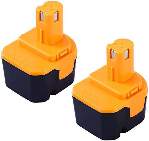 Akkopower バッテリー リョービ B-1203F2 12V 3.0Ah リョービ互換バッテリー B-1203 1203C B-1203F3 B-1203M1 BPL-1220 B-8286 BPT1025 RY-1204リョービ12vバッテリー 電池パック 互換バッテリー ニッケル水素電池 二個セット