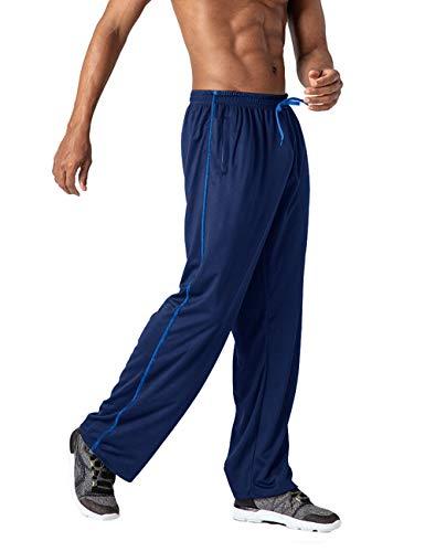 TOTNMC Mens Outdoor Activewear Pants Breathable Mesh Pants for Men Zipper Pockets Navy