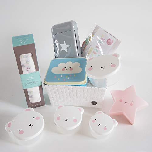 MINIMOI | Canastilla Regalo Bebé Recién Nacido | Estilo: Premium | Color: Rosa