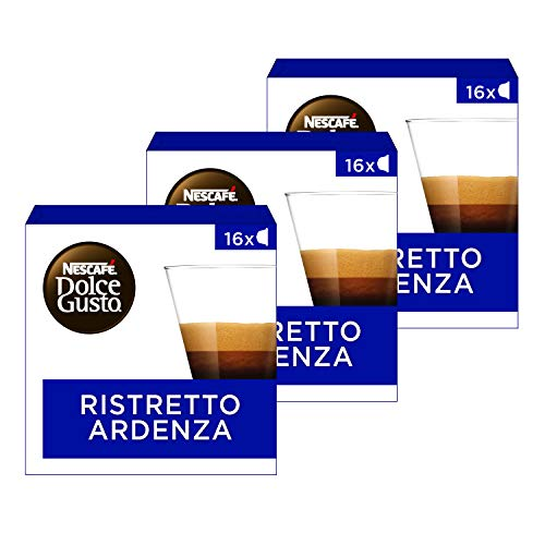 NESCAFÉ Dolce Gusto Ristreto Ardenza - Pack de 3 cajas de 16 capsulas - Total: 48 Cápsulas