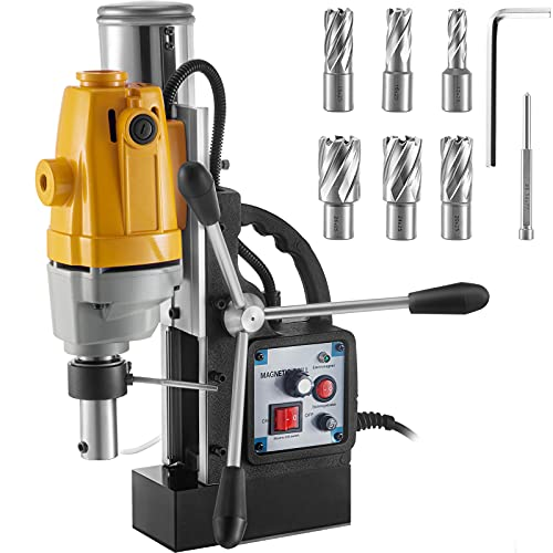 VEVOR Mag Drill, 0-550 RPM Stepless Speed Electromagnetic Drill Press, 2.16