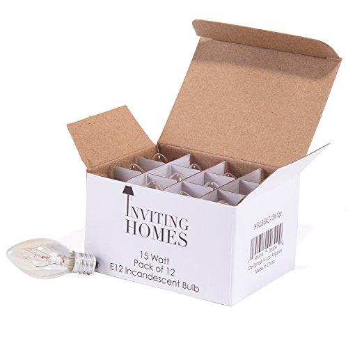 INVITING HOMES 15 Watt Long Lasting Incandescent Salt Lamp Bulbs – Pack of 12